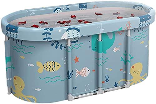 X&Z-XAOY Bañera Portátil No Inflable De 115 Cm Bañera Plegable De PVC/SPA Bañera Plegable De Plástico Grueso Independiente para El Hogar (Color : Ocean World)