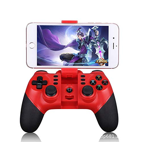 LFYPSM Game Console Handle Batman Mobile Phone Wireless Bluetooth Eating Chicken Game Handle Jedi Survival Apple Android,Red