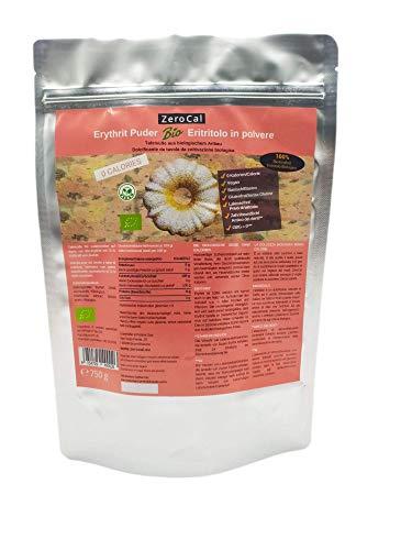 ERITRITOLO BIOLOGICO IN POLVERE | Sostituto dello zucchero a velo a ZERO Calorie di ZeroCal | 750 g