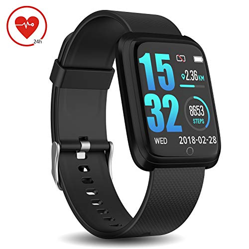 Buy Cheap DoSmarter Fitness Tracker with Heart Rate Monitor, Waterproof Pedometer Running Watch with...