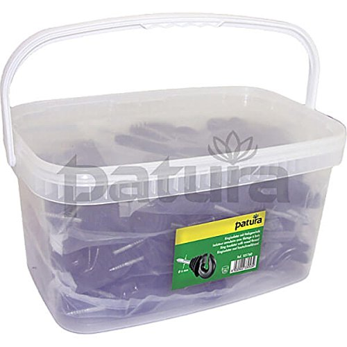 Patura 101760 PK Filetage bois Anneaux isolants, Noir, 6 mm, lot de 100 pièces