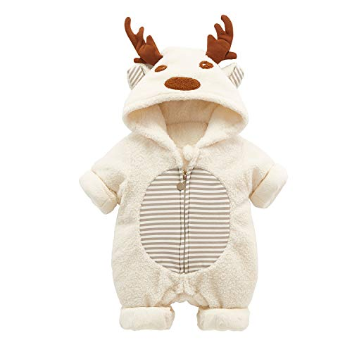 Bebé Navidad Mameluco Reno Invierno Mono Papá Noel Pelele Body