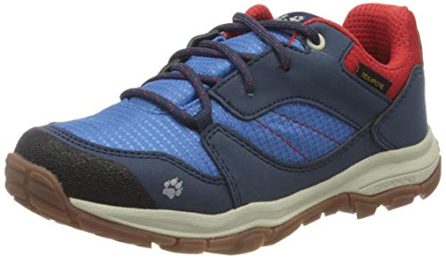 Jack Wolfskin Unisex Kinder MTN Attack 3 XT Texapore Low K Walking-Schuh, Blue/red, 34 EU