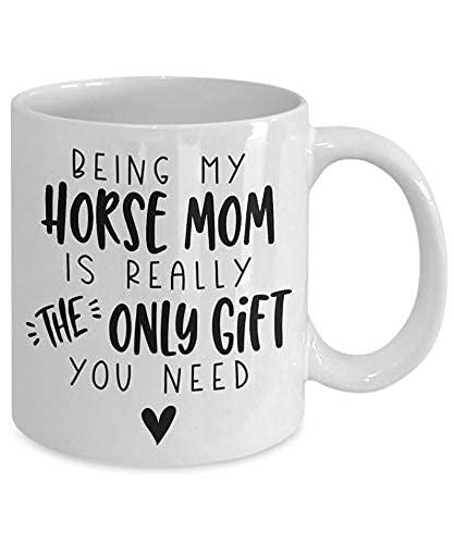 Taza con texto en inglés 'Horse Mom Gift for Horse Mom Horse Mom Mug Horse Mom Christmas Gift Horse Mom Birthday Gift Gift For Horse Mom Funny Gift Mug
