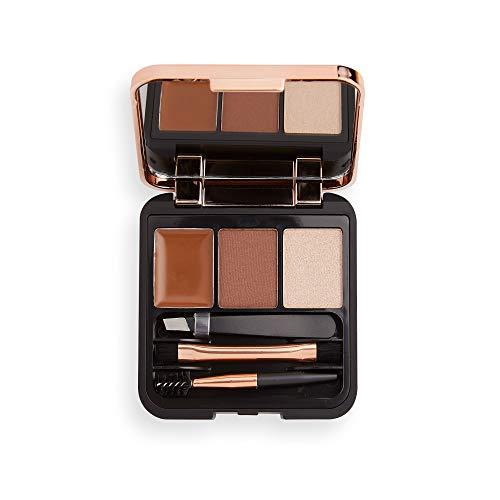 MakeUp Revolution Brow Sculpt Kit Medium - 3-in-1 Mini Augenbrauen Set - ideal für unterwegs oder zuhause - 1 Stück