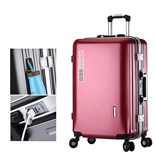 Suitcase PC4 Wheels Universal Wheels ABS Hard Shell Suitcase With USB Charging Port Lightweight Carry-on Trolley Case