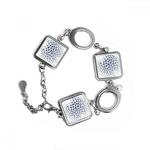 Doe-het-zelf atomische structuur van het extract drie dimensies fysieke illustratie vierkante vorm metalen armband liefde geschenken sieraden met decoratie van de ketting