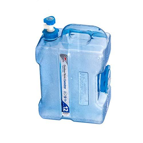 Zebroau - Bidón de agua de plástico con grifo, depósito de agua grueso para coche y depósito de agua de viaje