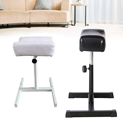 Berkalash Fußpflege Fußstütze, Höhenverstellbar Nagel Fußstütze Fuß Spa Massage Stuhl Maniküre Fußstütze für Maniküre-Tätowierungs-Schönheits-Salon(Höhe Ablage: 37-52 cm) (Weiß)