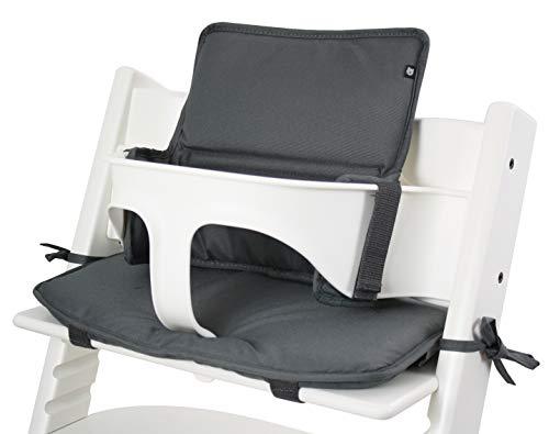 Tinydo® Hochstuhl-Sitzkissen Dunkelgrau - optimales Zubehör für Stokke Tripp Trapp - Sitzverkleinerer-Kissen mit XXL Dämpfung ohne Verrutschen (Dunkelgrau)