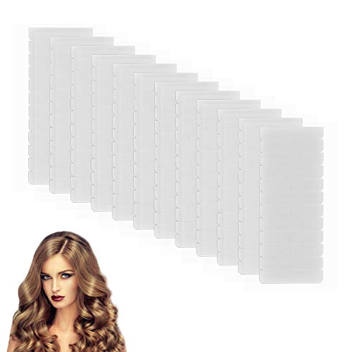 120 Piezas Cinta de Extensión de Pelo de doble cara a prueba de agua Cinta Adhesiva de Extensión de Pelo Cada 0,8 cm x 4 cm para Trama del Cabello y Extensión de Cabello