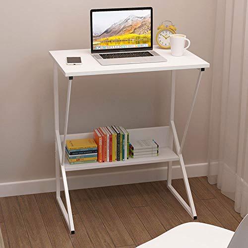 Scrivania Studio Tavoli Ufficio Postazioni di Lavoro Computer in Legno Scrivania Sit-Stand Laptop Tavolo Tavolo da Studio Porta PC Ergonomico PC Desk, con Ripiani, 60x38x72cm MDF