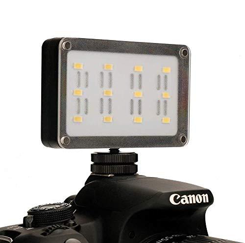 Luz LED de la mini videocámara portátil Ulanzi Cardlite para Canon Nikon DSLR con filtro de gel de 12 colores Iluminación...