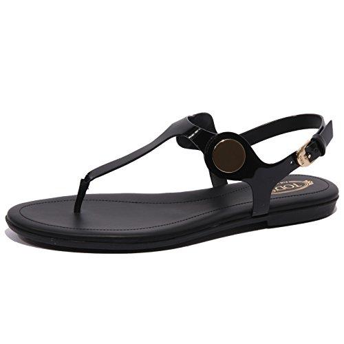 Tod's B1559 Infradito Donna Sandalo Nero Flip Flops Shoe Woman [35]