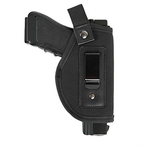 Per GLOCK 26, 27, 29, 30, 39, 28, 33, 36, 43 e M & P Shield in 9mm, .40 e .45 ACP, Ruger LC9 e la maggior parte delle pistole. Ampia apertura anche per pistole a grandezza naturale. Nella nuova edizione, la clip era realizzata in metallo anziché in p...