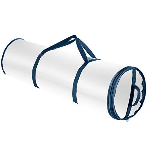 AILIEE Aufbewahrungstasche Schlankes Unterbett Geschenk Veranstalter Wasserdicht Pvc-stoff Geschenkpapierrolle Tasche Housekeeping Zubehör Storage Bag(Blau,L)