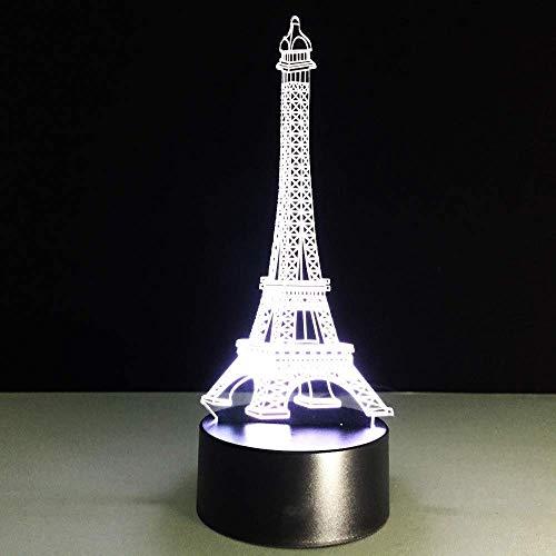Edificio De La Torre 3D Lámpara De Ilusión Led Luz Nocturna Mesita De Noche Óptica Luces Nocturnas 16 Cambio De Color Botón Táctil Decoración Lámparas De Escritorio,