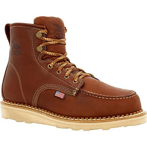 Georgia Boot USA Wedge Moc Toe Work Boot Size 7.5(M) Brown