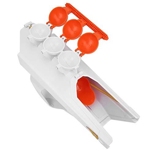 IDWT Práctico Fabricante de Bolas de Nieve, Pistola lanzadora de Bolas de Nieve, Invierno para niños Adultos((Blanco))