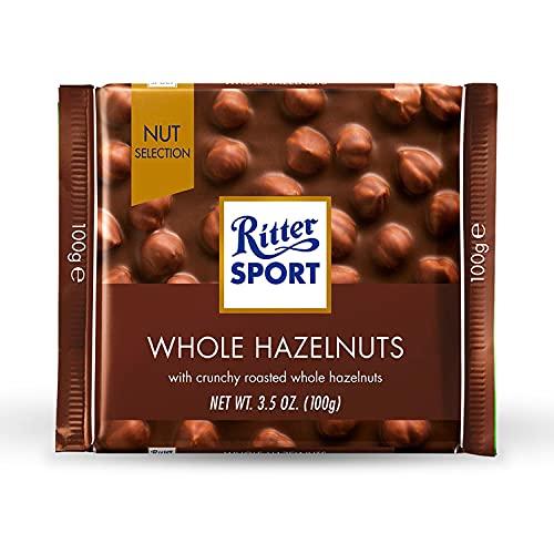 Ritter Sport Cioccolato Nocciole Intere, 100g