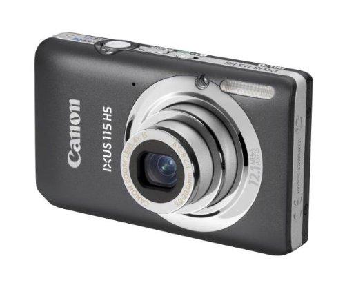 Canon IXUS 115 HS Digitalkamera (12 MP, 4-fach opt. Zoom, 7,6cm (3 Zoll) Display, Full HD, bildstabilisiert) grau