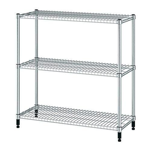 Unbekannt IKEA Estantería Omar 92x 36x 94cm, galvanizado y Ampliable, con versetzbaren Suelos