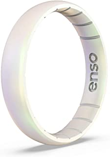 Enso Rings Thin Legend Silicone Ring | Made in The USA | Lifetime Quality Guarantee | an Ultra Comfortable, Breathable, and Safe Silicone Ring