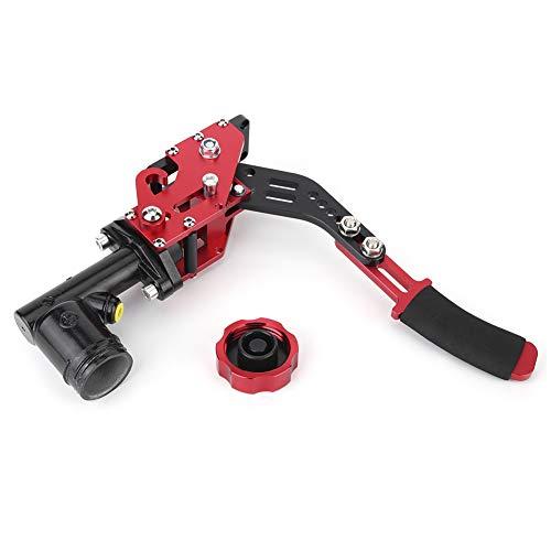 Freno a mano idraulico, leva del freno a mano orizzontale idraulico rosso in lega di alluminio con serbatoio dell'olio rosso + nero per auto da corsa da corsa