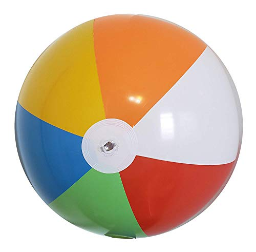 Inflatable Beach Balls Jumbo 24 inch for The Pool, Beach, Summer Parties, and Gifts   6 Pack Blow up Rainbow Color Beach Ball (6 Balls)
