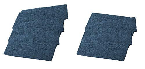 magnetoplan 1229301 Ersatzfilz für Tafelreiniger, Blau, 12 Stück