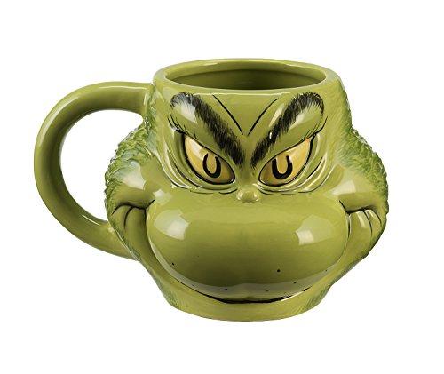 Dr. Seuss Grinch Sculpted Ceramic Mug