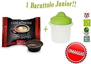 300 Capsule Compatibil Lavazza a Modo Mio Caffe' Borbone Don Carlo Miscela Rossa +OMAGGIO 1 barattolo con coperchio