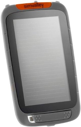 simvalley MOBILE Zubehör zu Outdoor Smartphone: Solar-Panel für Outdoor-Handy XT-930, grau (Smartphone-Handy ohne Vertrag)