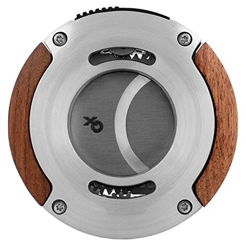 XO 64 Ring Gauge Double Guillotine Cigar Cutter in an Attractive Gift Box Lifetime Warranty Redwood