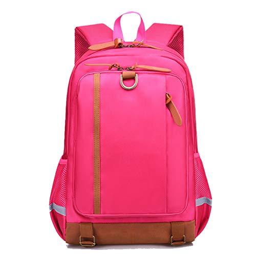 EVFIT Mochila para niños Mochila Bolsa de Escuela Primaria Casual Daypack Bolsas de Libros a Prueba de Agua Bolsas de Mochila para la Escuela Primaria (Color : Rose Red, Size : 30x16x46cm)