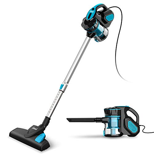 INSE Vacuum Cleaner Corded 18KPA Powerful Suction Stick Vacuum Cleaner with 600W Motor Multipurpose 3 in 1 Handheld Corded Vacuum Cleaner I5 Blue