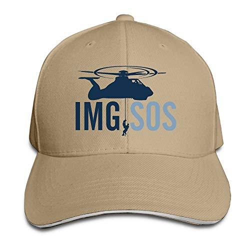 Presock Gorra De Béisbol,Gorro/Gorra Unisex SOS Plane Adult Adjustable Snapback Hats Dad Hat
