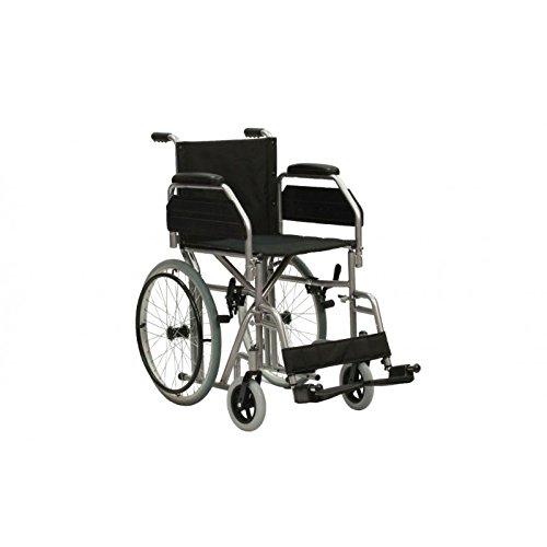 TERMIGEA Carrozzina Pieghevole per Disabili o Anziani, Sedia a Rotelle Leggera ideale per Passaggi Stretti, con ferma Polpacci e Pedane Regolabili