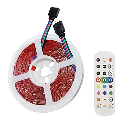 MagiDeal Tira de luces LED que cambian de color, 24 teclas, control de aplicaciones, luces LED para el hogar, cocina, habitación, dormitorio, dormitorio, 10m