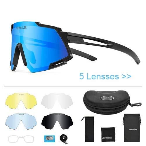 XBSXP Lente Deportes ultraligeros Gafas de Sol polarizadas Bicicleta Gafas de Bicicleta Hombres y Mujeres Gafas de Ciclismo