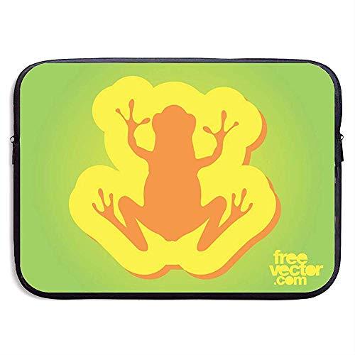 Frosch-Abzeichen 15-Zoll-Laptop-Ärmeltasche Portable Zipper Laptop-Tasche Tablet-Tasche