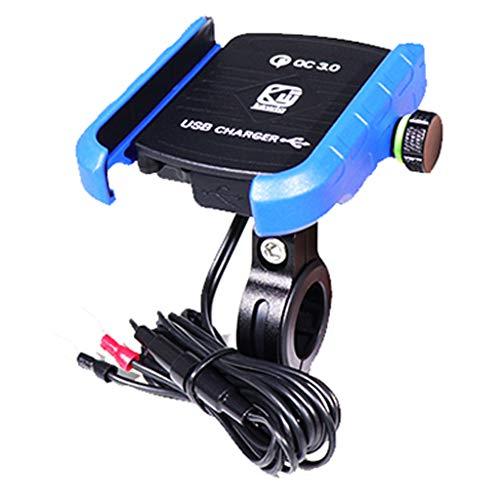 Xiao Jian mobiele telefoon standaard - 3,0 mobiele telefoon houder USB-oplader motorfiets stuurstandaard snel opladen voor Samsung Huawei 3,5-6 '' Phone Bracket telefoonhouder