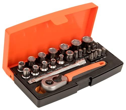Bahco SL25 JGO.Llaves DE Vaso 1/4, 0 W, 0 V, multicolor, 10.2 cm, Set de 25 Piezas