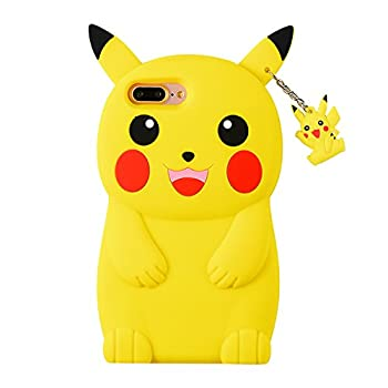TopSZ Yellow Pikacu Case for iPhone 5C 5S 5G 5,Silicone 3D Cartoon Hero Animal Cover,Kids Girls Teens Boys Man Animated Cool Fun Cute Kawaii Soft Rubber Funny Unique Character Cases for iPhone5