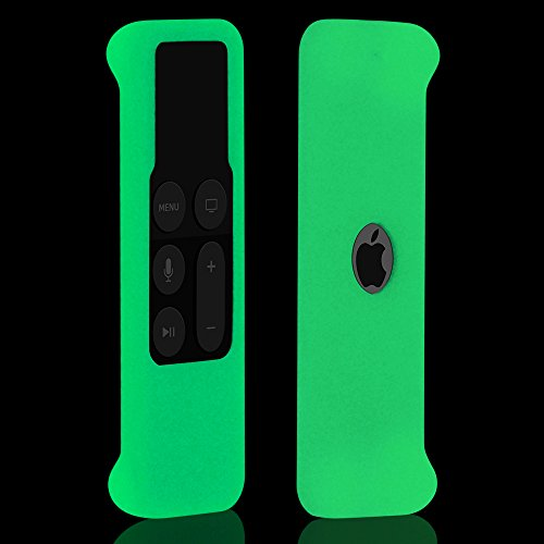 Hydream Funda de Protectora para Apple TV 4th y 5th Generación Control Remoto - Antideslizante de Silicona Carcasa Case Cover para Apple TV 4k Siri Remote Mando a Distancia (Glow Green)