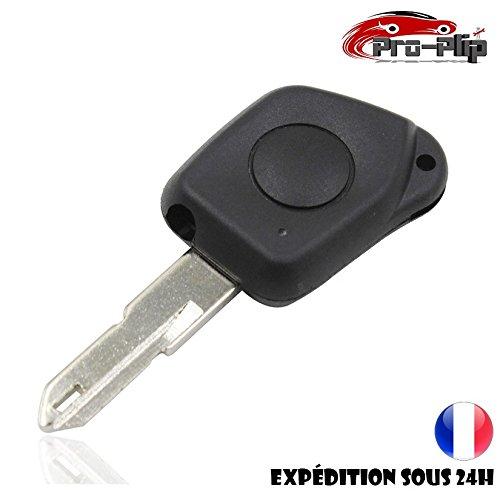CLE PLIP Peugeot 106 206 306 406 205 405 1 Bouton Coque @Pro-Plip