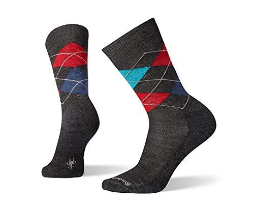 Smartwool Diamond Jim Crew Socks - Men's Medium Cushioned Merino Wool Performance Socks (CHARCOAL, L)