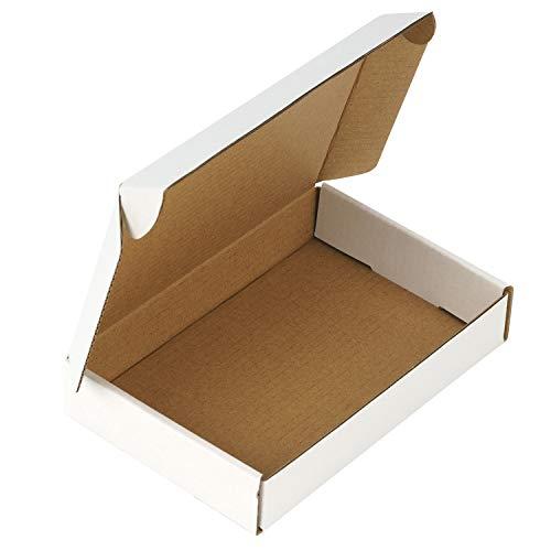 RUSPEPA Recycelbare Wellpappen-Mailer - Karton Perfekt Für Den Versand Klein - 15,3 X 10,2 X 2,5 cm - Packung Mit 50 Stück - Weiß
