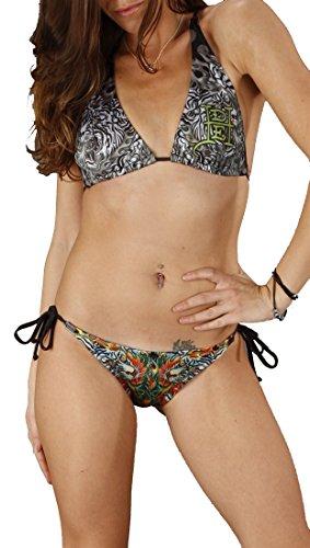 Ed Hardy Tiger Bikini Set in Navy (X-Small) Ed Hardy Womens Swimwear