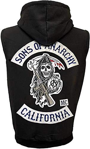 Sons of Anarchy Highway - Chaqueta de piel sintética con capucha, color negro